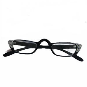Black Rhinestone Cat Eye Glasses